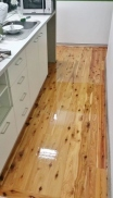 Tight Kitchen Space Timber Floor by ElegantTimberFloors