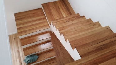 Stunning Example of Elegant Timber Floor Stairway by ElegantTimberFloors